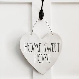 Rae Dunn Home Sweet Home Ceramic Heart Decor